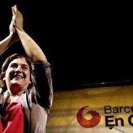 """La """"indignada"""" de Barcelona"""